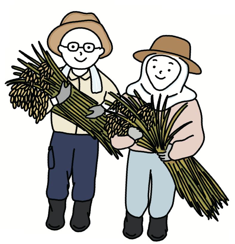 八千代産のお米農家のイメージ